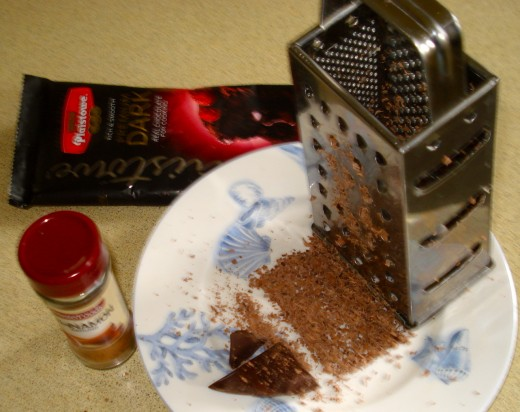 Grated Chocolate and Cinnamon