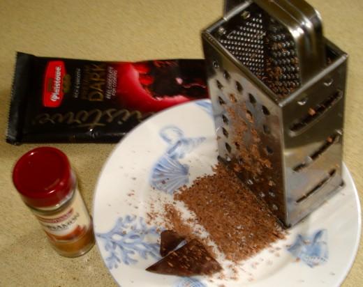 Grated Chocolate and Cinnamon
