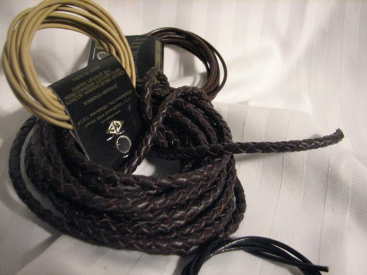 this is a very small example of the many kinds of leather cords available in the way of leather cords used in making jewelry