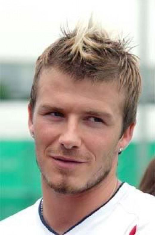 David Beckham with fohawk style.