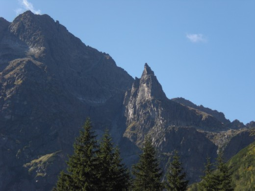 Taken alongside Morskie Oko, the peak at center, know as the Monk, is one of the most famous peaks in Poland.