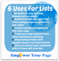 6 Great Uses For Facebook Friends & Interest Lists