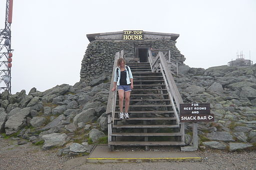 There are several buildings at the top of Mt. Washington. This is on of the oldest ones.