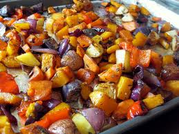 A pan of roasted vegetables is a pan full of nutritional comfort food to get you through those long cold winter days.