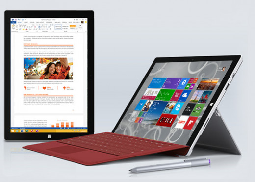 The Surface Pro 3: A tablet and laptop in one.