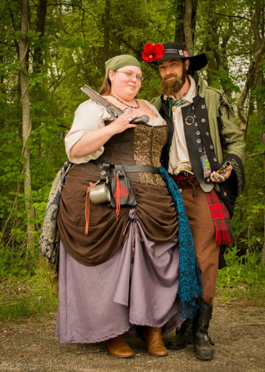 Derek and Sarah of the New England Brethren of Pirates.