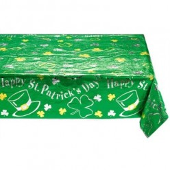 photo credit, target.com.      St. Patrick's Day Tablecloth, available at Target