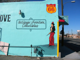 Contemporary street art on Central Ave. in Albuquerque