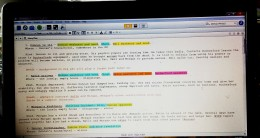 Section of a full story plan, color coded.