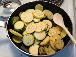 Cook veggies over medium heat with whatever spices you choose.