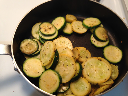 Cook your veggies to your preferred doneness. I like mine so they just have a little bit of crunch left. So, for me this is perfect.