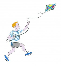 Remember flying a kite as a child?