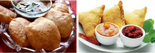 Kachori and Samosa