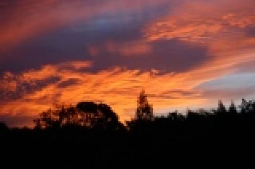 Sunset near Komga