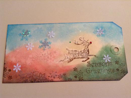 My Rudolph tag.