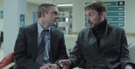 "Billy Bob Thornton with Martin Freeman in ""Fargo"" (2014)"