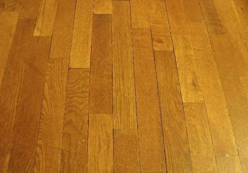 A Common Hardwood Floor.  Wood flooring can be made from a variety of timbers including pine and spruce.