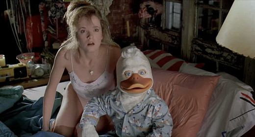 "Lea Thompson, you'll never recover from the shame of Howard the Duck... or will you? Nope. I hope you saved whatever blood-money they paid you for this scene. Wasn't your ""danger- career in jeopardy"" alarm beeping?"