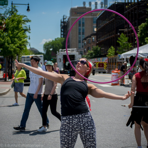 Sarah of the Boston Hoop Troop.