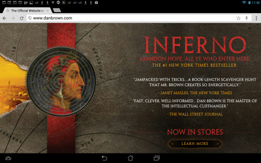 Screenshot of Dan Brown's website. Website's don't have to be expensive creations with fancy graphics. It's relatively easy to create one yourself.