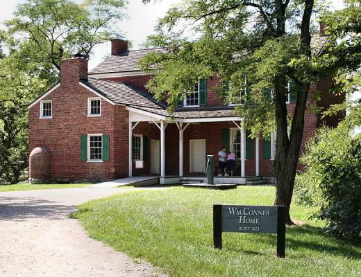 Original Conner house at Conner Prairie living history museum in Fishers, Indiana. Photo shot by Derek Jensen (Tysto), 2005-September-03