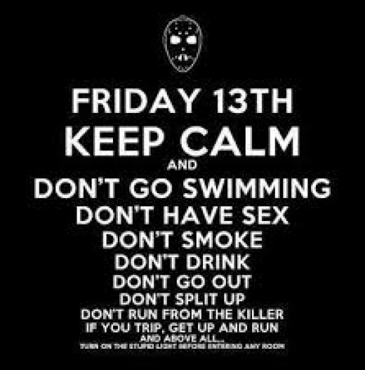 The Rules to Friday the 13th and how to stay alive