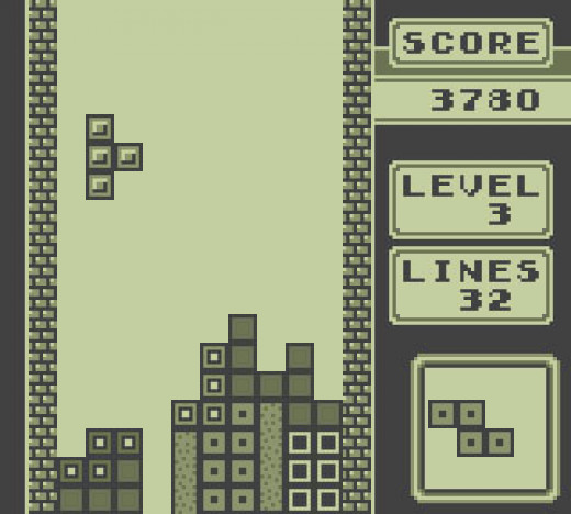 Nintendo Gameboy version of Tetris