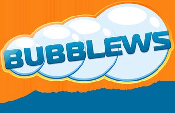 "Bubblews logo stating : ""Write your world"""