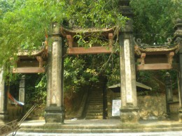 Gate of the pagoda down the hill
