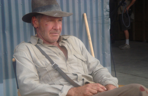 On the set of Indiana Jones