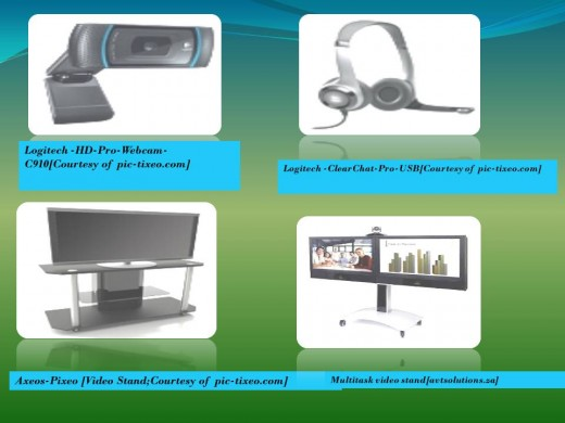 video conferencing equipments depend on geographical distance, location as well as scale of use.