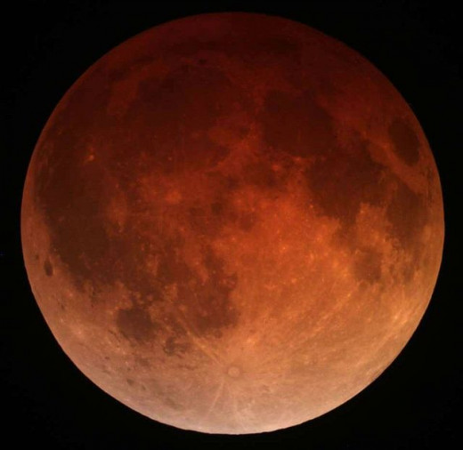 The spectacle of a Blood Moon is a result of a lunar eclipse