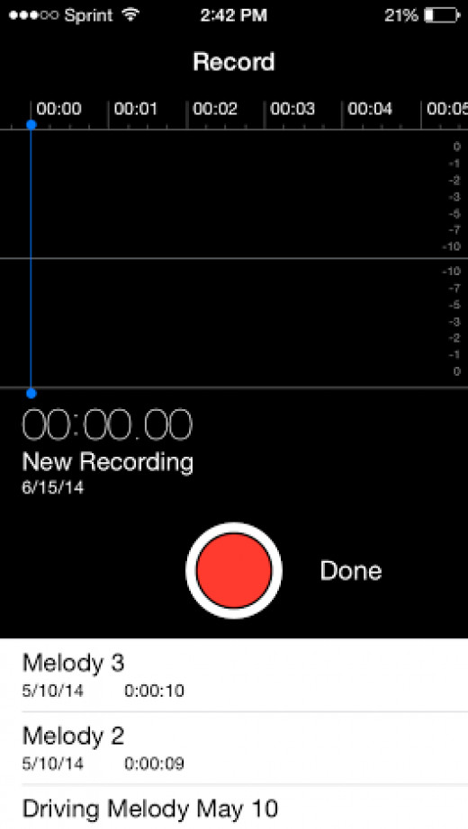 The voice memo app that comes with every iPhone can be a great way to keep track of your thoughts throughout the day