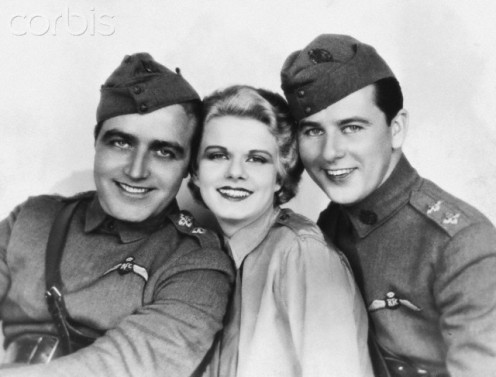 (from left), James Hall, Jean Harlow and Ben Lyon.