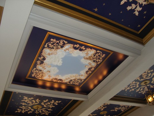 Each ceiling was different and all elegant