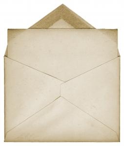 A vintage envelop for sending a letter.
