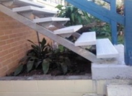 This is the side of stairs, this photo was taken to show you the stringers and the side view.