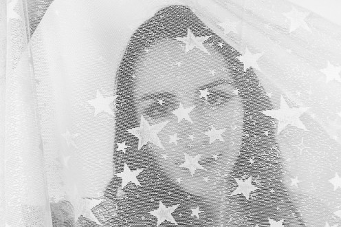 Veiled Veil Hidden Masked Stars Eyes Girl