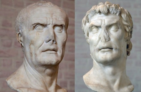 Gaius Marius (left) Lucius Cornelius Sulla (right)