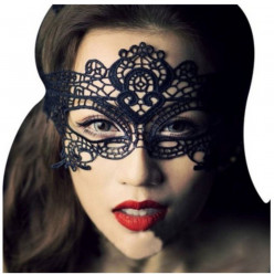 ETSYG Fashion Sexy Exquisite Lace Eye Mask for Masquerade Party Fancy Dress Black