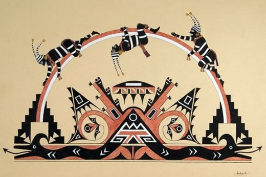 All Native American Art is based on religion.