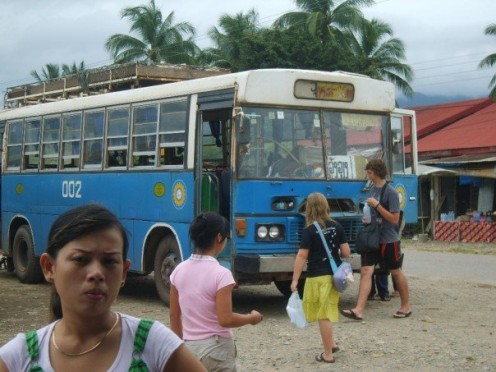 Local bus to Vientienne