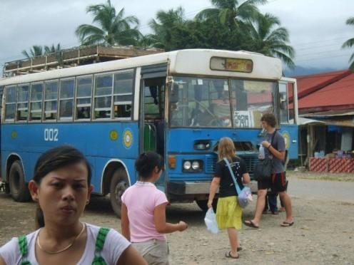 Local bus to Vientienne