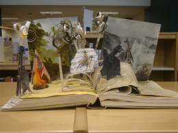 Student project, open book diorama, from a local high school.