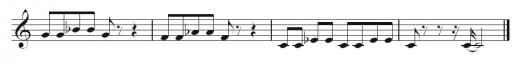 The third phrase of my blues melody