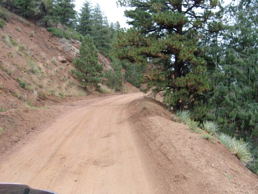 It was a good road, but dirt and sand