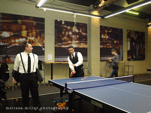 Not many people would think of a ping pong bar for a bridal party, but it happened and it was great. Tag the venue to give others the same idea!