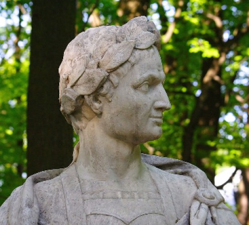 Julius Caesar wearing Civic Crown