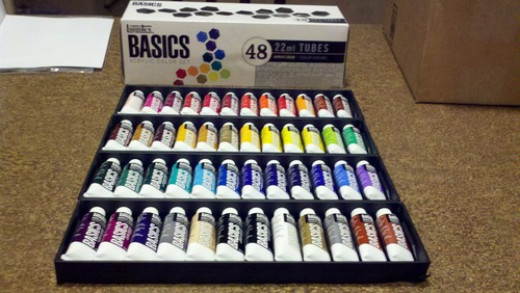 One of the many options of paint sets - this brand is my fave
