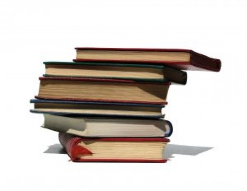 A stack of books like Keith might be using